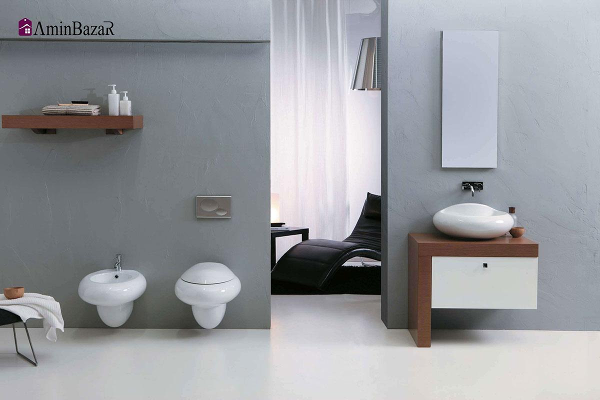 تصویر انواع توالت فرنگی از نظر نوع سیستم تخلیه