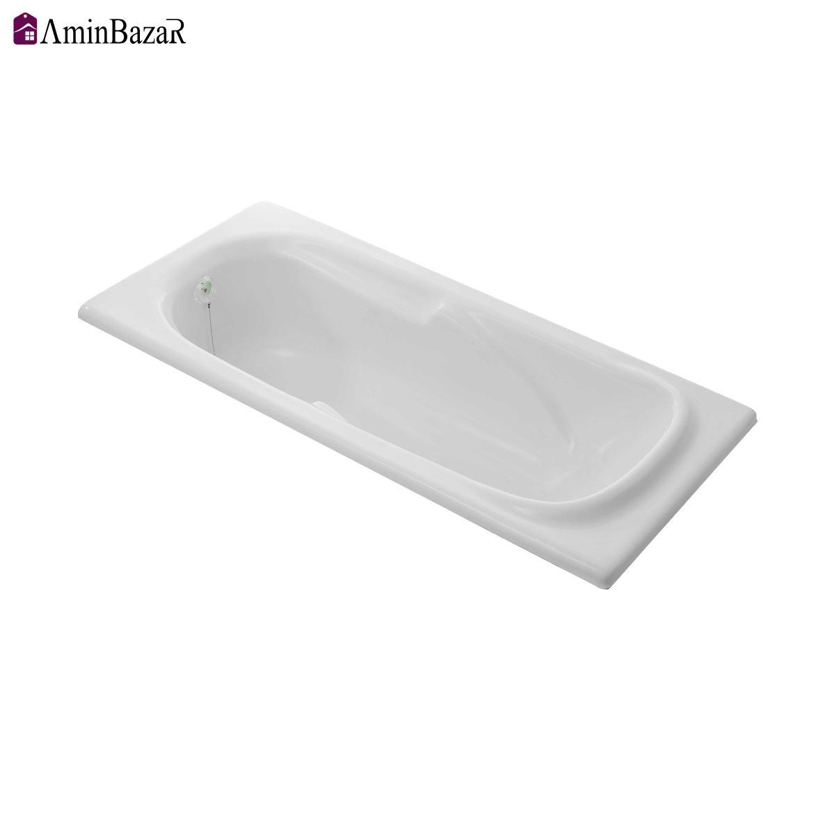 وان حمام توکار سنی پلاستیک مدل اطلس بدون شاسی و پانل اندازه 70 * 150 سانتیمتر