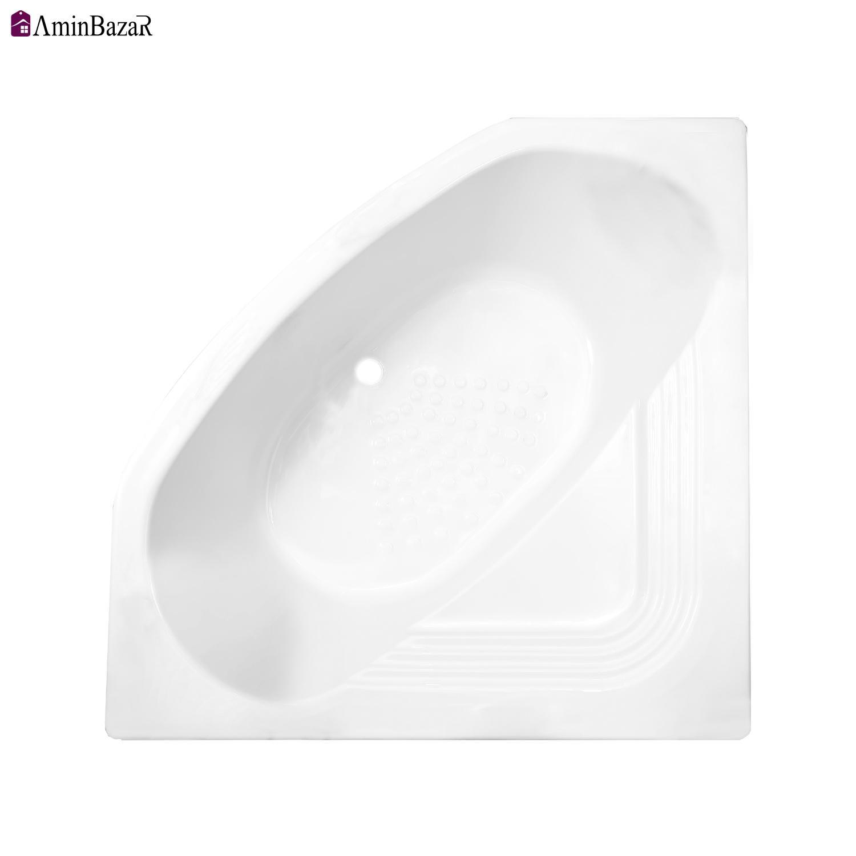 وان حمام توکار سنی پلاستیک مدل آتلانتیک بدون شاسی و پانل اندازه 140 * 140 سانتیمتر