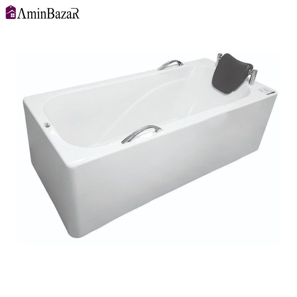 وان حمام سنی پلاستیک مدل ویستان با شاسی و پانل اندازه 70 * 148 سانتیمتر