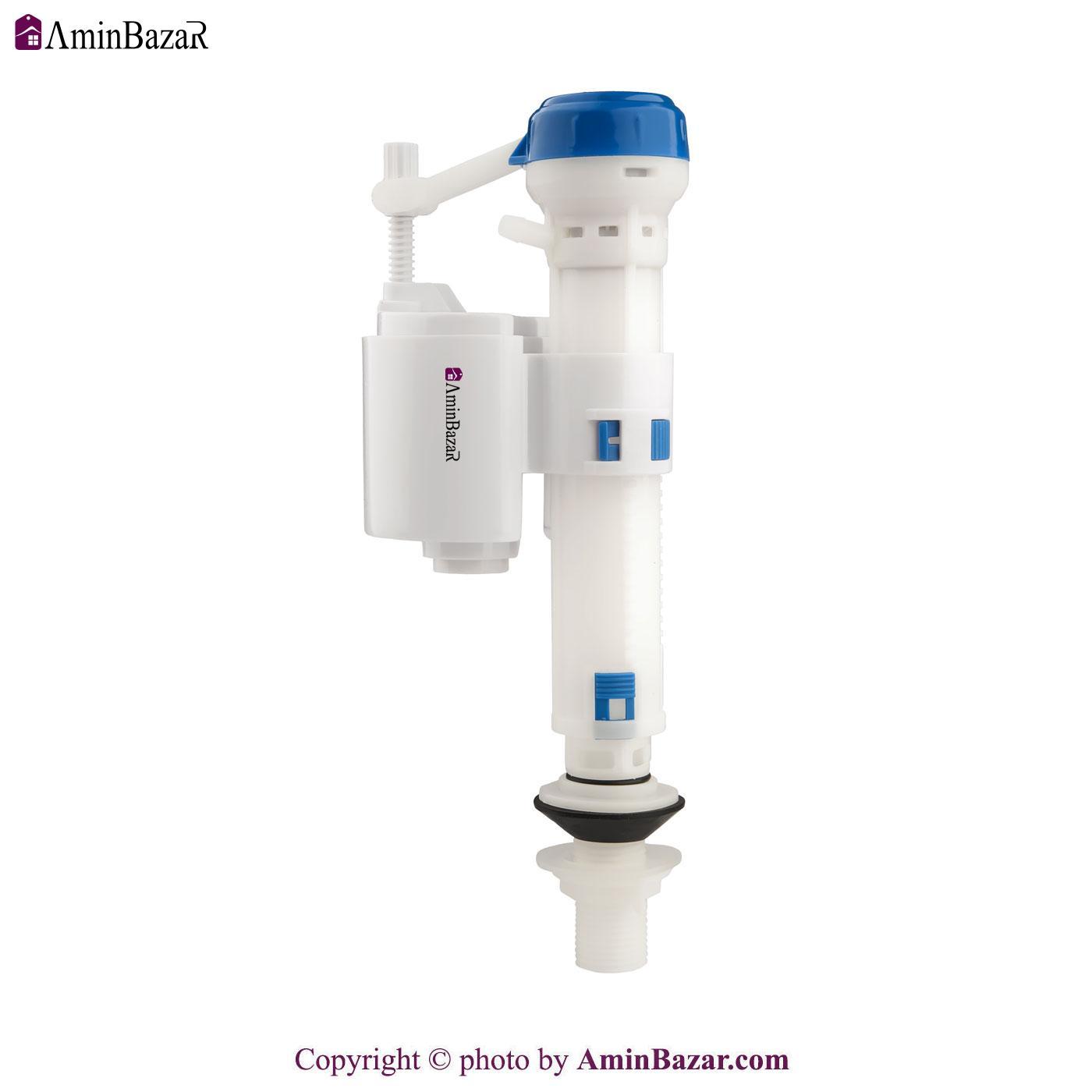 شیر شناور و فلوتر توالت فرنگی و فلاش تانک سنی پلاستیک با ورودی آب از کف مدل نیکا