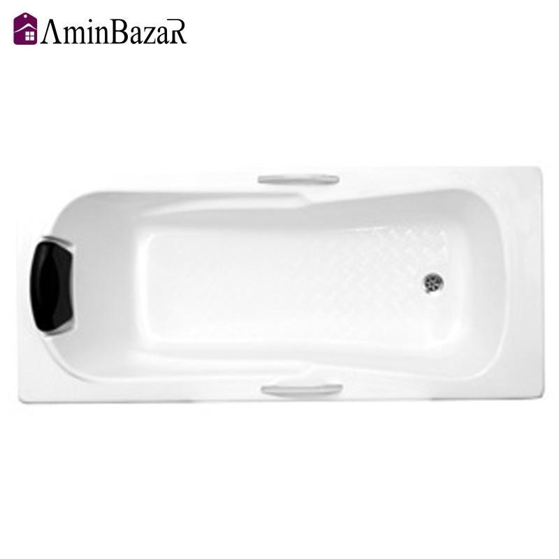وان حمام توکار سنی پلاستیک مدل رست بدون شاسی و پانل اندازه 70 * 160 سانتیمتر