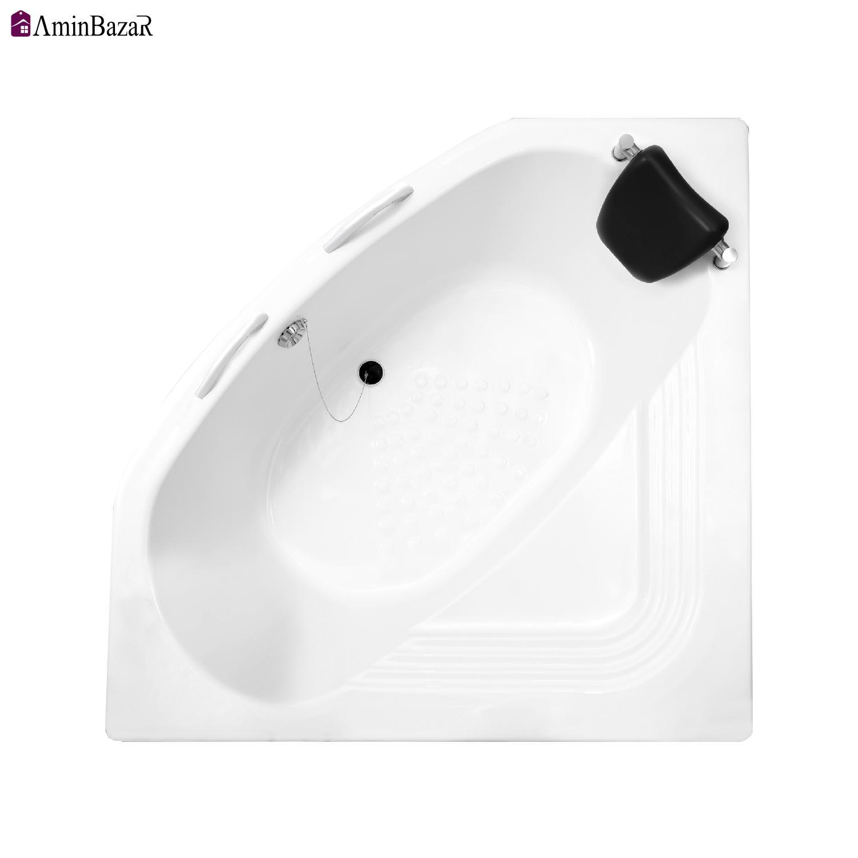 وان حمام سنی پلاستیک مدل آتلانتیک با شاسی و پانل اندازه 140 * 140 سانتیمتر